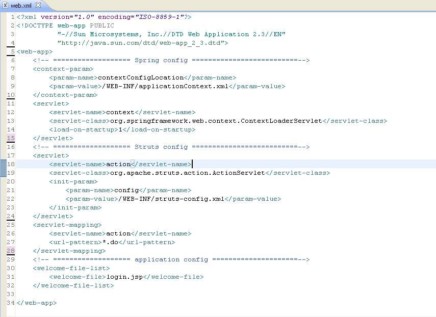 integration spring struts app 2